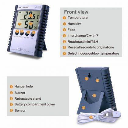 دماسنج و رطوبت سنج دیجیتال مدل HC-520